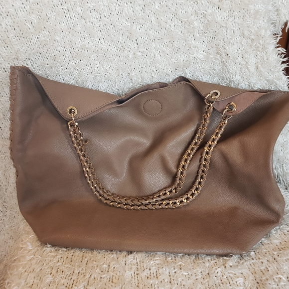 Faux Soft Leather Hobo Bag